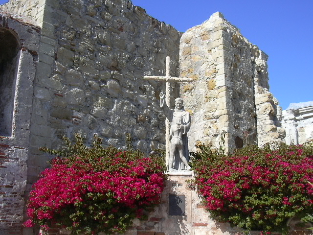 The ruins of the original church.