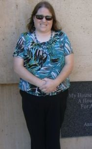 Me at the Cathedral of Our Lady of the Angels