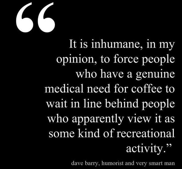 Dave Barry on coffee