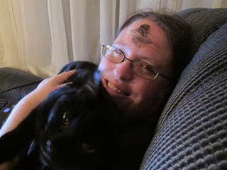 Edda and I on Ash Wednesday in 2013.