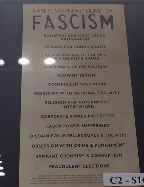 The definition of fascism.