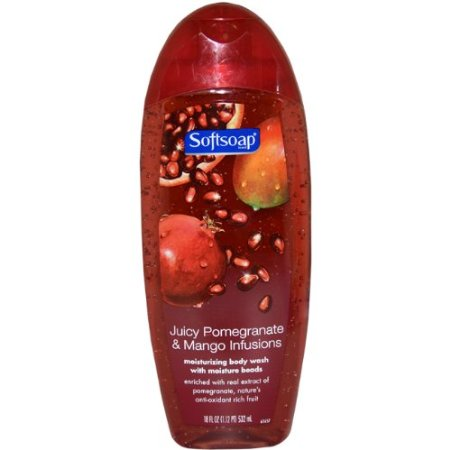 Softsoap Juicy Pomegranate and Mango Infusions Moisturizing Bodywash