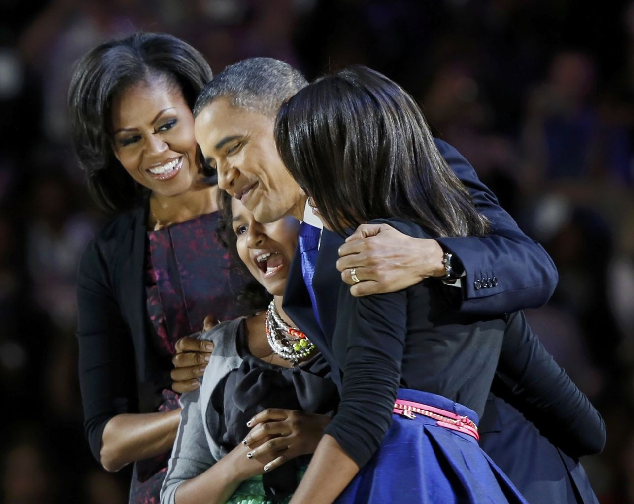 The Obamas celebrating the President's re-election.