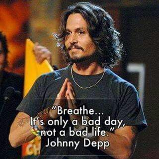 Wise words from Johnny Depp.
