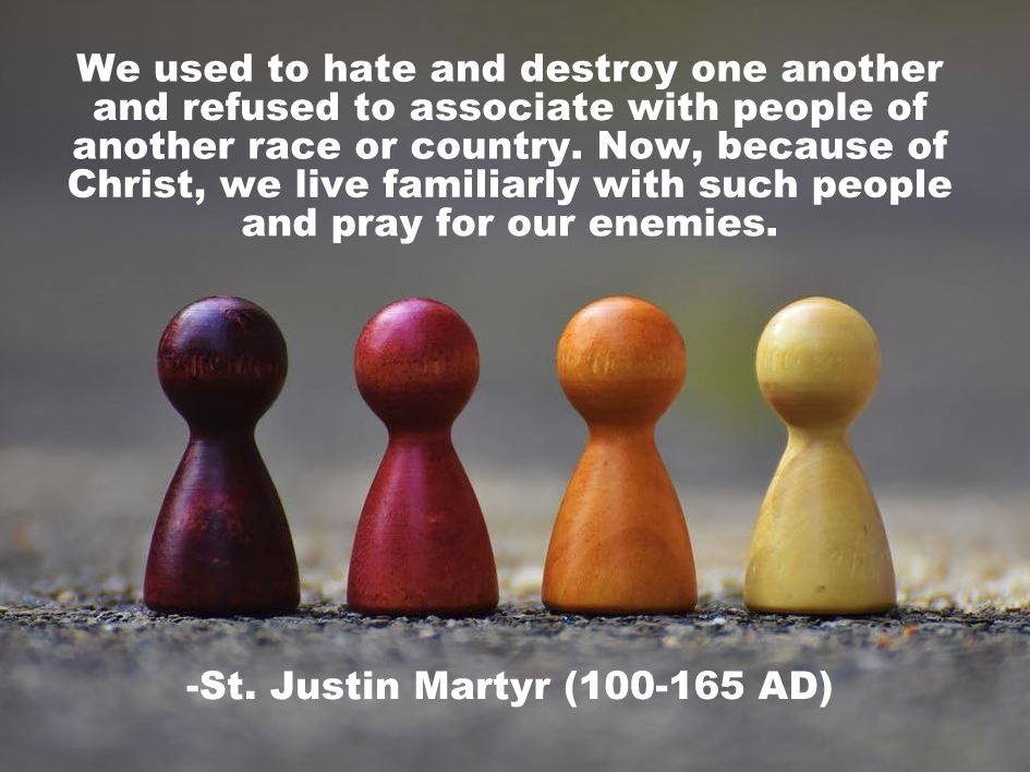 From St. Justin Martyr