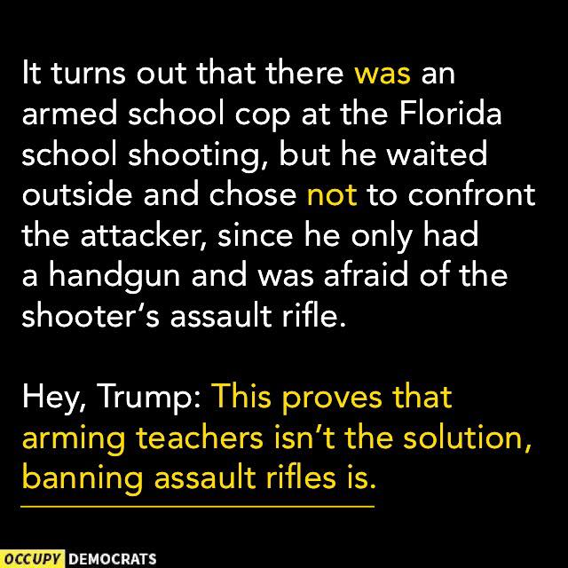 For the idiots who want to arm teachers