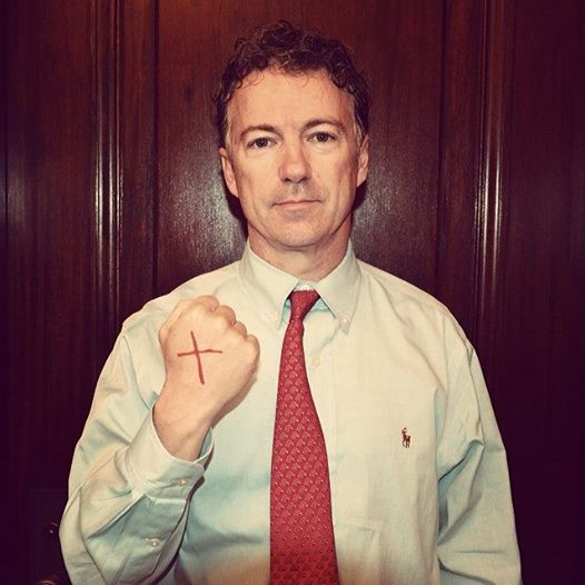 Rand Paul demonstrating his commitment to end human trafficking.
