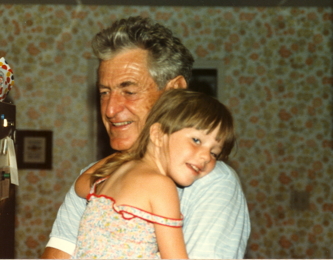 My grandfather and me in 1984.