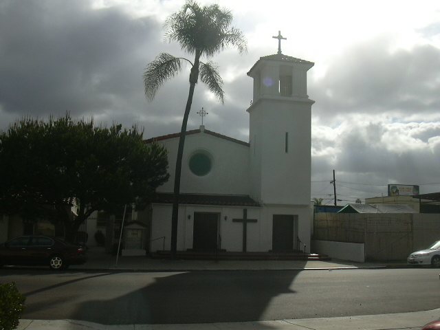 The church building.