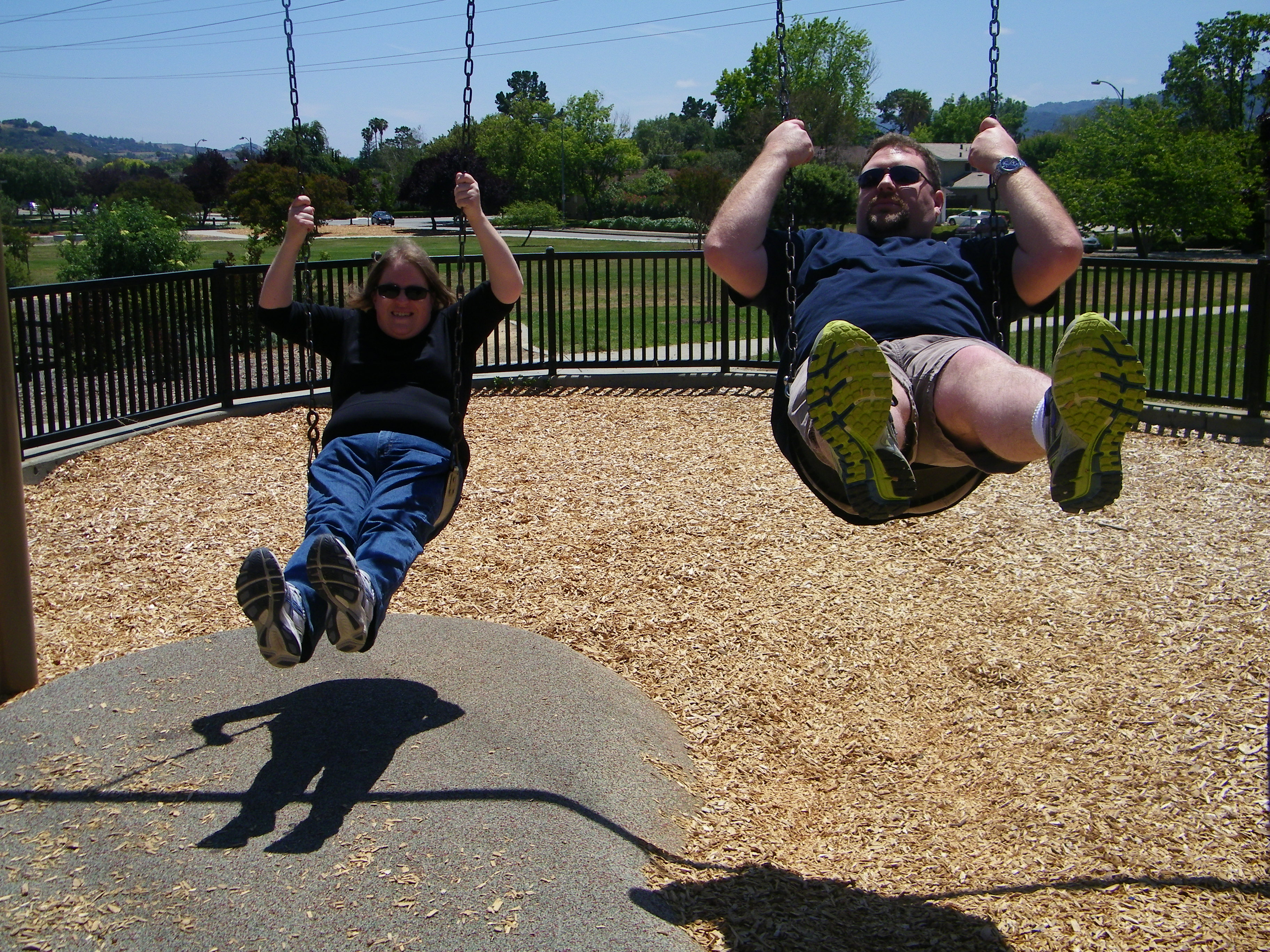 Sean and I on the swings.