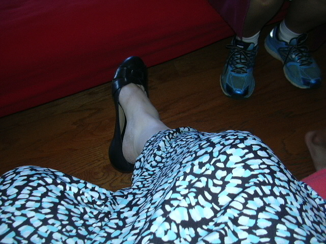 Details of my skirt and shoes.