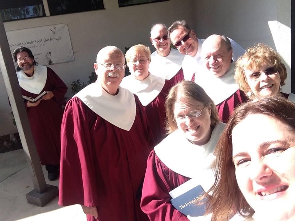 My choir and clergy.