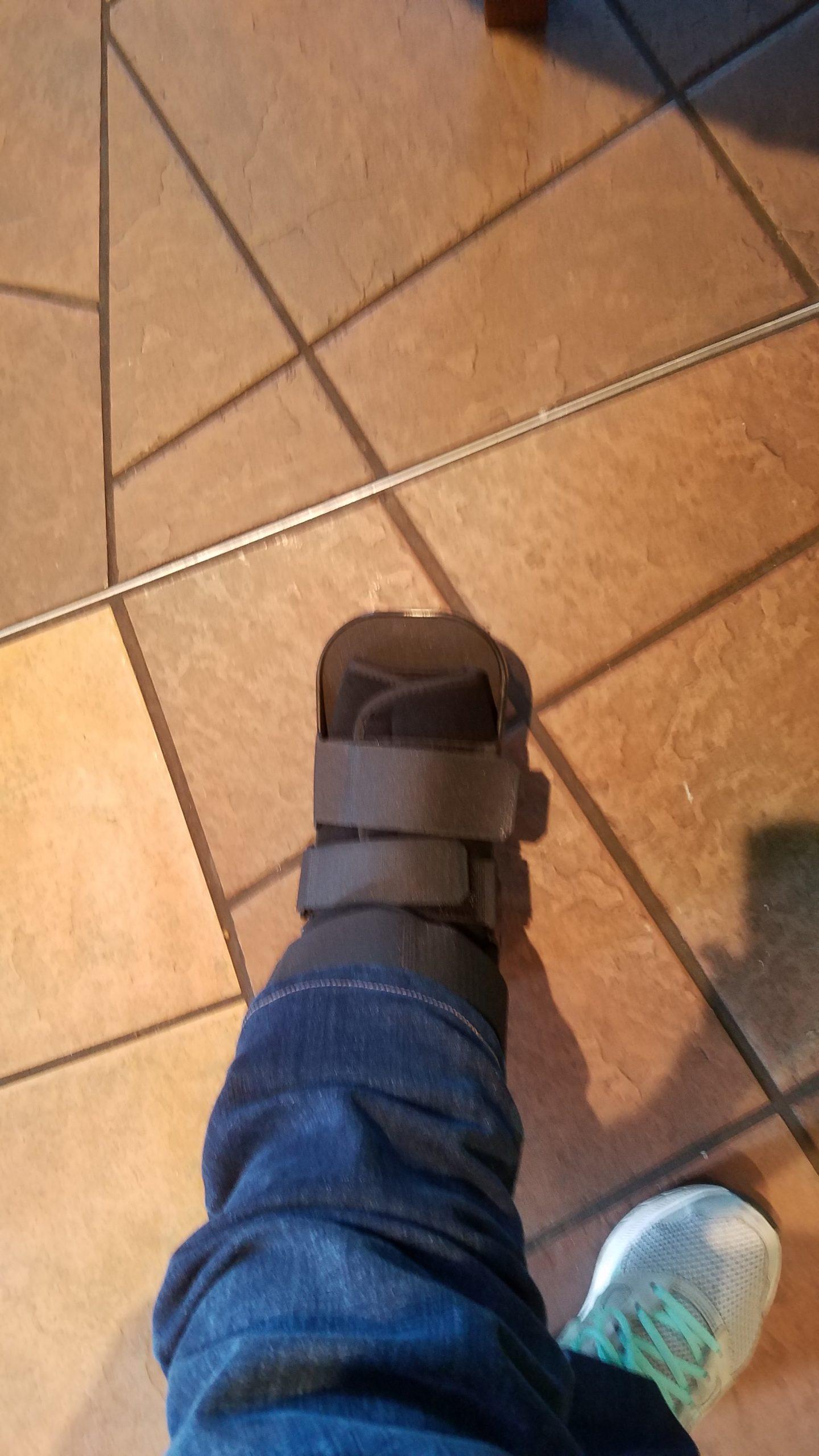 My boot.