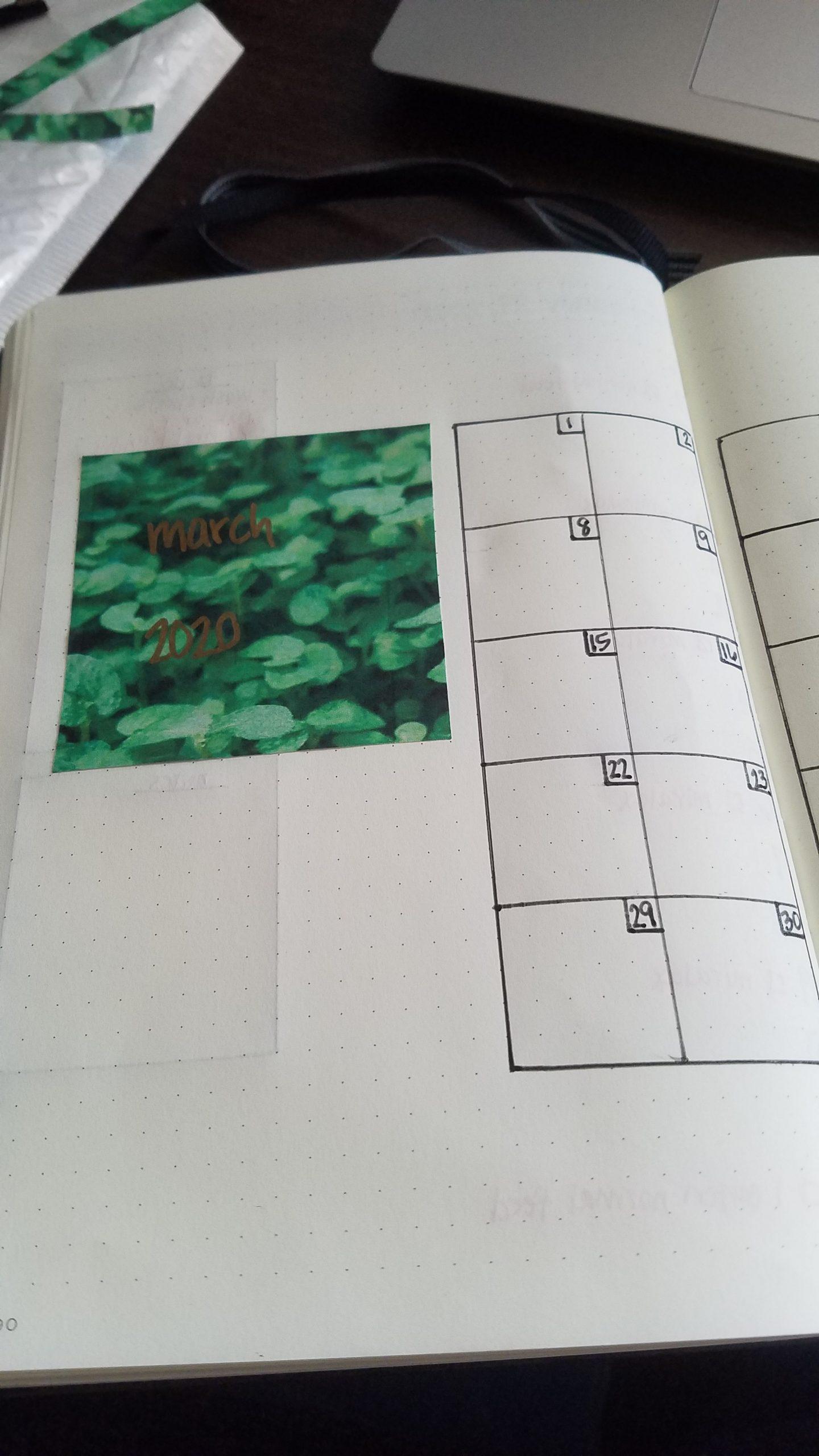 Part of the calendar.