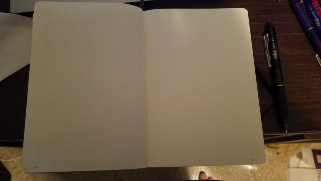 My blank notebook.