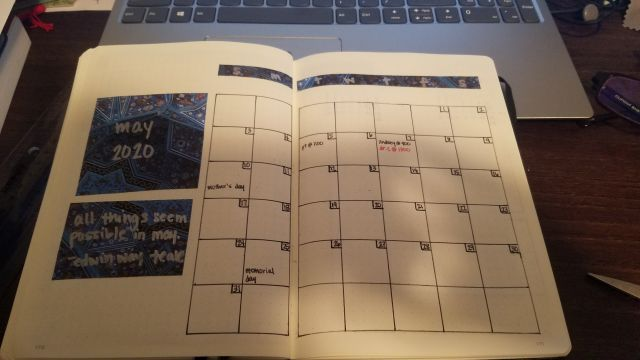 The finished calendar layout.