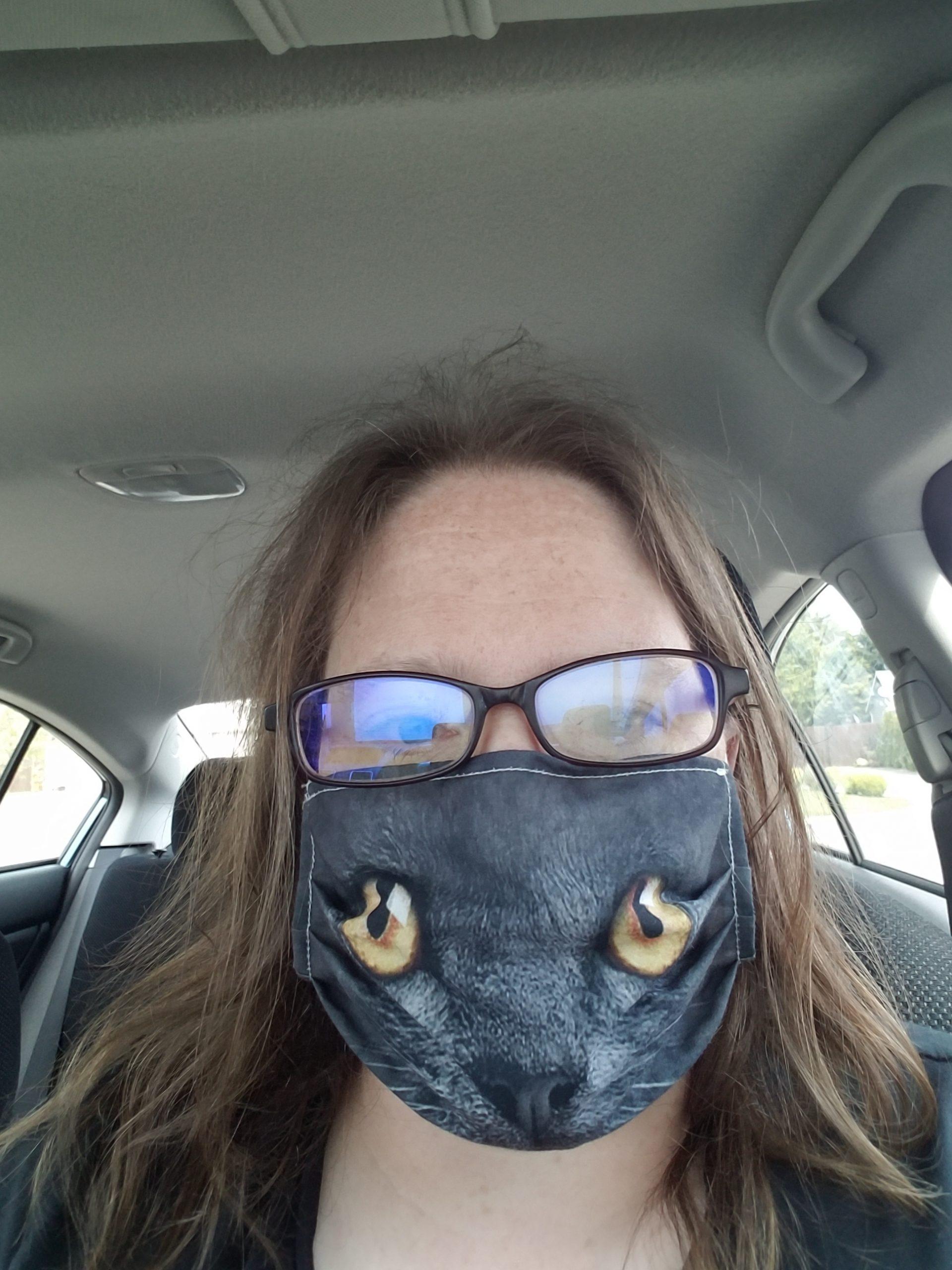 Kitty mask selfie!