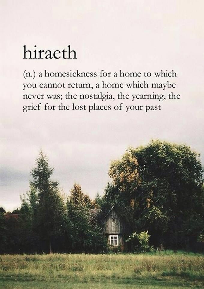 Hiraeth.