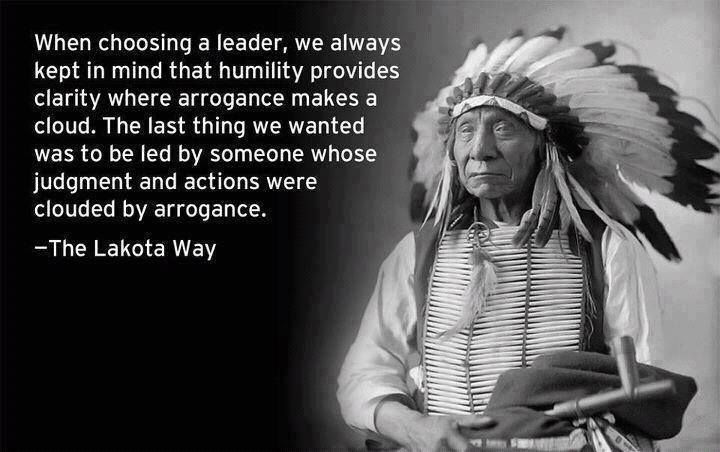 Political wisdom from the Lakota.