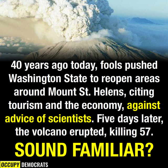 The Mount St. Helens eruption had idiots too!
